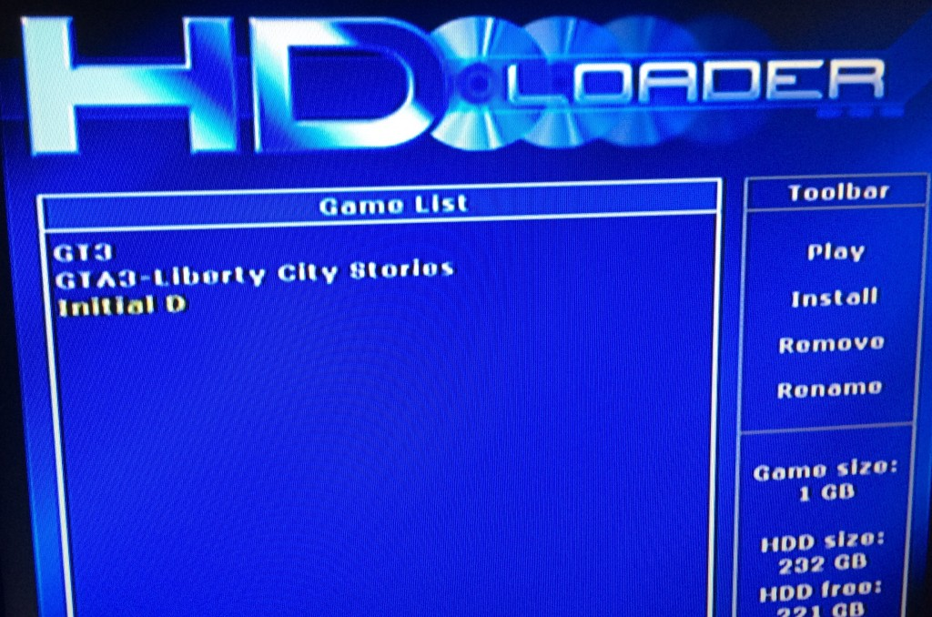 HDLoader List OF Games